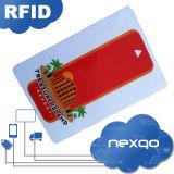 Дешевая карточка контроля допуска пластмассы RFID PVC франтовская с Barcode