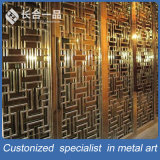 Kundenspezifischer bester QualitätsEdelstahl-goldener Laser-Schnitt-Raum-Teiler