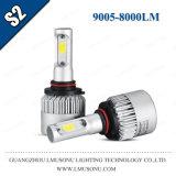 PANNOCCHIA 12V 8000lm delle lampadine 9005 del faro di alto potere S2 LED della PANNOCCHIA con il ventilatore