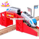 Nieuwe Heetste Simulatie 50 Locomotief van de Trein van het Stuk speelgoed van de Spoorweg van PCs de Houten voor Jonge geitjes W04c077