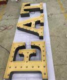 Metal pintado cáscaras carcasas LED bombilla letras signo logotipo