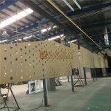 La couleur d'or a percé la feuille en aluminium pour l'usage en aluminium de mur rideau