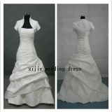 2012 a calda - la linea increspa il vestito da cerimonia nuziale/abito di cerimonia nuziale (L-28)