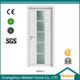 Personalize o interior da porta de madeira sólida com vidro