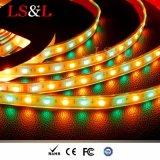 Wasserdichte Ledstriplight RGB hellbernsteinfarbige Farbe, die DIY Lichter ändert