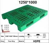 L1250*W1000*H150mm Medium-Duty, Plastic Pallet met 3 Agenten, Net