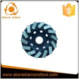 Turbo Diamond Grinding Cup Wheel para discos de moagem com concreto 4-7 ''