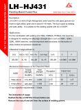 Cambiamento continuo Hj431 per Q345, 16mn, Q390, saldatura di acciaio 15mnv