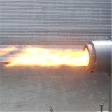 Печка горелки лепешки энергии биомассы горящая деревянная