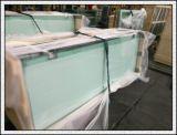 La glace Tempered de verre trempé avec le logo/écran en soie/a poli des bords/trous