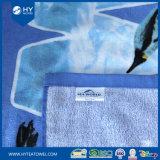 Напечатанное таможней полотенце пляжа хлопка мира моря