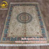 5.5X8FT серые и синие популярных шелковые ковры ручной работы