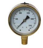 Calibrador de cobre amarillo forjado del caso (B-0031)