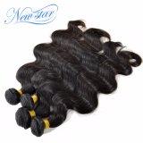 A venda por atacado malaia da onda do corpo empacota extensão não processada do cabelo humano de 100%