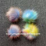 염색된 실제적인 너구리 모피 POM POM 다중 색깔 모피 자동 고사포