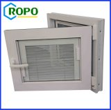 UPVC/PVCはブラインドの中ガラスが付いている傾きおよび回転Windowsに二重ガラスをはめた