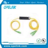 Gpon Telemcommication 광섬유 1X2 플라스틱 상자 Sc/APC 3.0mm 광학 연결기 Fbt