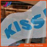 Etiqueta engomada unidireccional de la ventana de la visión de la etiqueta engomada de cristal