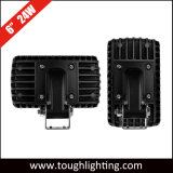 "6 "" rectangulaire de 24W Support de montage horizontal ou vertical off-road/voyant des feux de travail à LED feux de route"