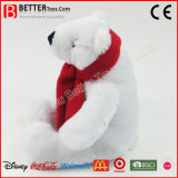 승진 선물 견면 벨벳 박제 동물 북극 곰 연약한 장난감