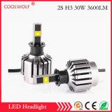 Faro delle lampadine del faro dell'automobile LED di vendita diretta 2s H3 30W 2800lm LED della fabbrica con il prezzo competitivo