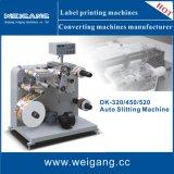 Étiquette de refendage de papier et de rembobinage de la machine