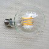 Ampoule de filament incurvée par G80 de l'ampoule DEL de cru d'Edison pour l'éclairage décoratif pendant d'intérieur