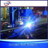 Toda a flama do plasma do CNC da câmara de ar da tubulação que chanfra e que corta o robô