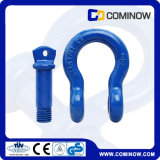 G209 Us Type Drop Forged Screw Pin Anchor Bow Shackle / Blue Heavy Duty Shackle