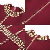 يصل نابض جديدة نساء ضمادة ثوب طويلة كم عنق ركبة طول قدم رفاهية [سقويند] شهرة ثوب لأنّ [إفنينغ برتي]