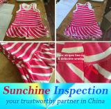 중국/제품 QC에 있는 아기와 아이들 착용 품질 관리 검사 검사와 시험