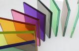 공간과 색을 칠한 박판으로 만들어진 안전 유리 (JINBO)