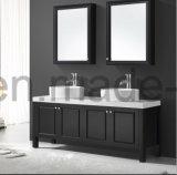 Estilo moderno de color negro resistente al agua tocadores de baño de madera sólida (ACS1-W82)