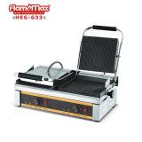 180 eléctrico abierto de fundición de aluminio anti-adherente Prensa Panini Grill y placas de comal