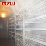 La unidad de frío y la sala fría, aislada de almacenamiento en frío