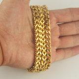 I grandi uomini di formato comerciano i braccialetti all'ingrosso sauditi della catena a maglia dei monili dell'oro 22K