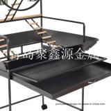 Qualitäts-neues bearbeitetes Eisen mit Spiel-Ring-Vogel Playstand Spielplatz