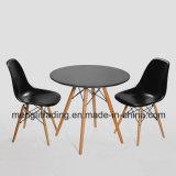 Noir Table et chaise de salle à manger ensemble de 2