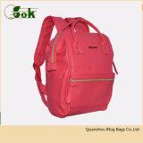 女性のための流行の粋で赤い本物PU革韓国旅行バックパック