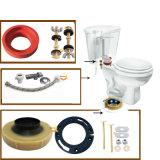Os jogos de instalação do toalete com anel da cera aparafusam a gaxeta do tanque da válvula de T