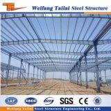 Vertiente de la casa prefabricada hecha por la fábrica de China con bajo costo de la estructura de acero