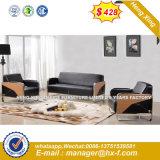 Горячая продажа офисной мебели из тикового дерева подлинной кожаный диван (HX-CS100)