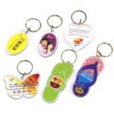 Trousseaux de clés acryliques de logo d'impression personnalisés par fournisseur d'usine de la Chine