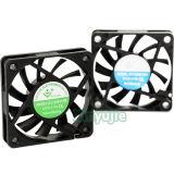 6010 tranquilidad del ventilador 5V 12V de la C.C. de 60X60X10m m mini del año sin cepillo de la potencia para el aparato electrodoméstico