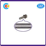 GB/DIN/JIS/ANSI Stainless-Steel/Carbon-Steel Terminal Antiderrapagem Combinação Parafusos de Cabeça da Placa de parafusos de combinação