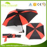 De vierkante Paraplu van het Golf van de Regenboog van de Luifel van de Vorm Dubbele voor Golfclub