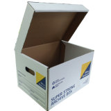 Deber duro papel ondulado caja de embalaje para el almacenamiento de oficina