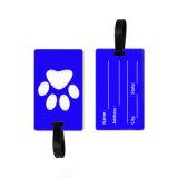 Forme carrée en PVC souple luggage tag tag en caoutchouc de silicone personnalisé de bagages
