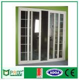 Puerta deslizante de aluminio insonora de Pnoc080304ls con la red de mosquito