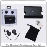 X2t de Draadloze Tweelingen Ware Navulbare Earbuds van Bluetooth